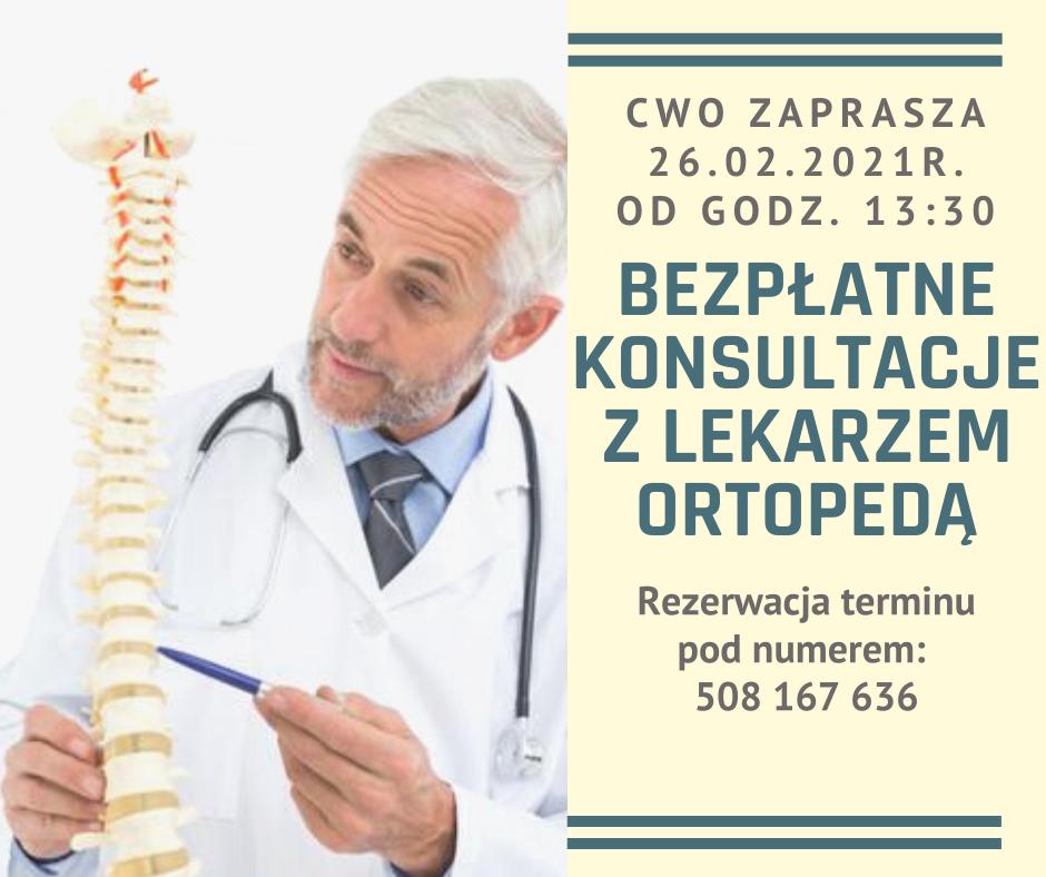 Bezpłatne konsultacje z lekarzem ortopedą