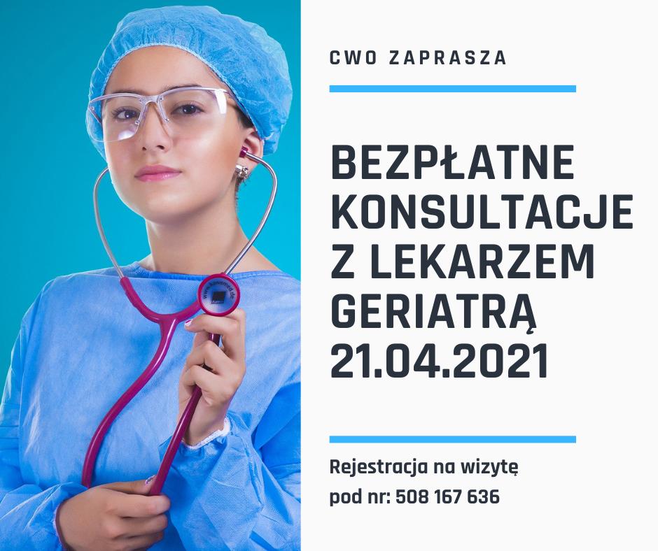 Bezpłatne konsultacje z lekarzem geriatrą