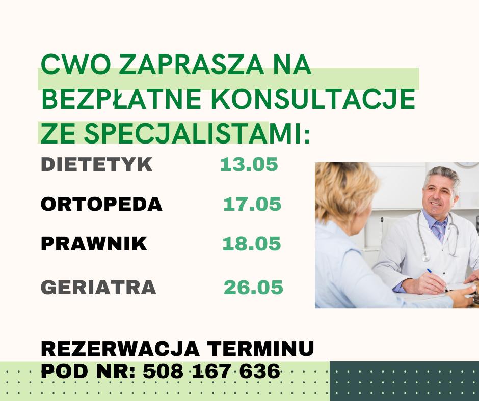 Bezpłatne konsultacje ze specjalistami