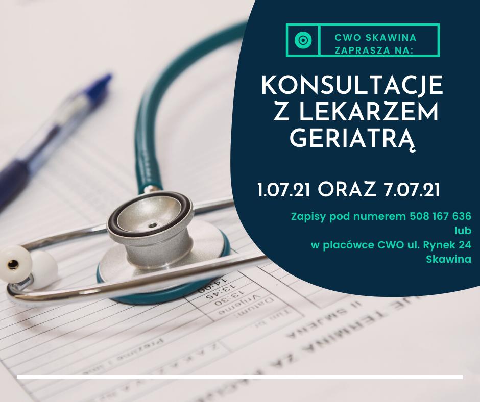 Konsultacje z lekarzem geriatrą