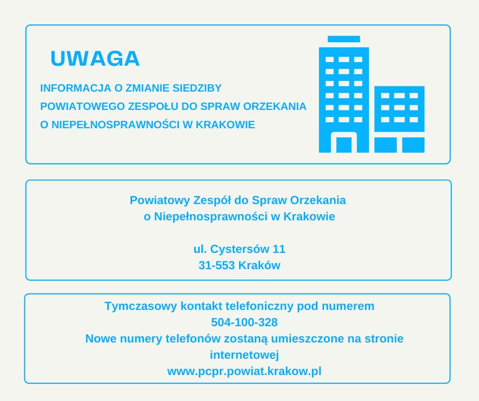 Adres Powiatowego zespołu ds. orzekania o niepełnosprawności w Krakowie