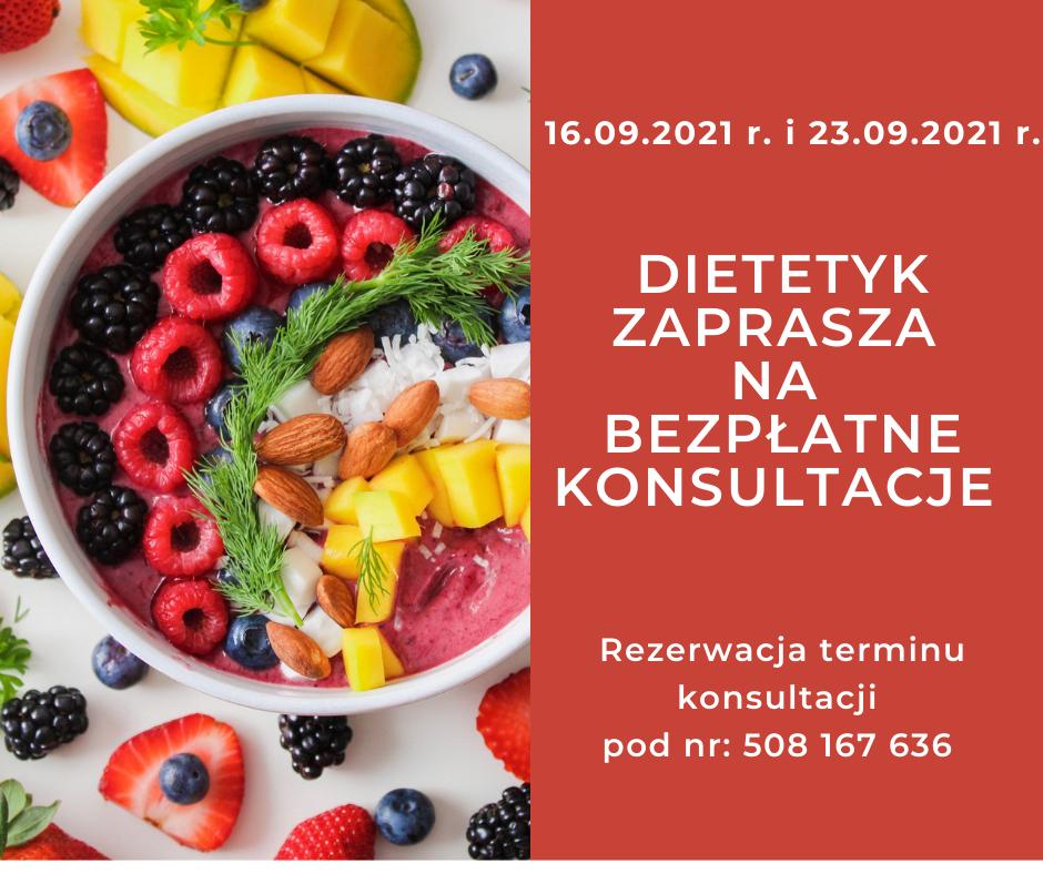Dietetyk zaprasza na bezpłatne konsultacje